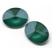 Round Stones Swarovski (Ювелирные кристаллы Сваровски) Oval Rivoli Swarovski Royal Green