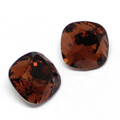 Swarovski Cushion Square 4470 Кристаллы Swarovski 4470 цвет Smoked Topaz