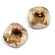 Swarovski Cushion Square 4470 Кристаллы Swarovski 4470 цвет Golden Shadow