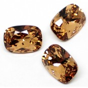 Round Stones Swarovski (Ювелирные кристаллы Сваровски) Cushion Fancy Stone Swarovski Lt.Col.Topaz